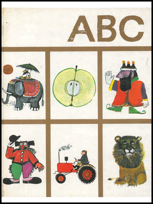 JOHN BURNINGHAM'S ABC / Jonathan Cape / Thirty Bedford Square London / First published 1964 / Reprinted 1972 / ISBN 0 224 608339