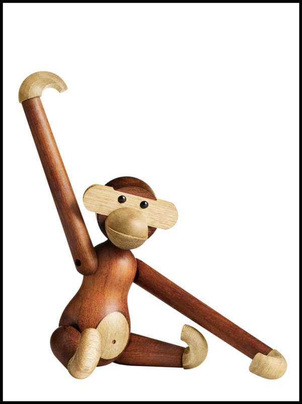 WOODEN MONKEY, 1951 / Teak and Limba hard woods / 60 x 47 x 39,5 / Design: KeyBojesenSP