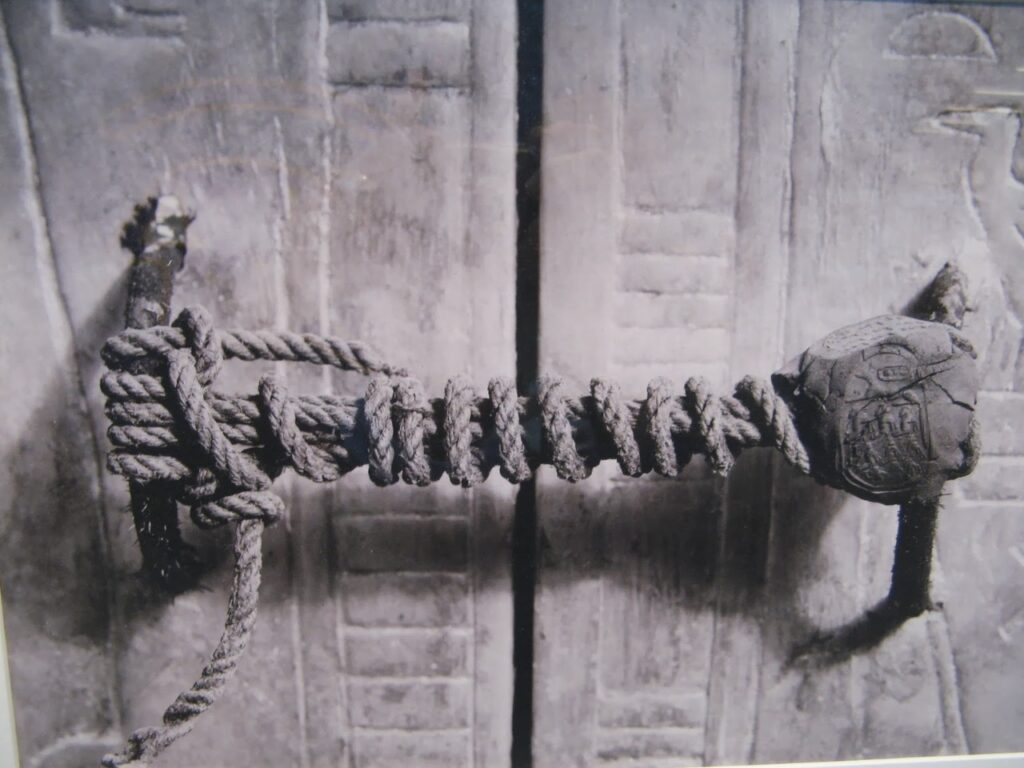 The unbroken seal on King Tut's tomb big